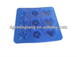 Mini Star/Heart/Rose Silicone Chocolate /Ice Mould,Cake Baking Pan ,Silicone baking.Cooking tools