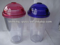 double wall acrylic tumbler with straw wholesale