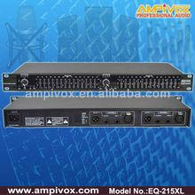 Professional Stereo Dual 15 Band Audio Equalizer EQ-215XL