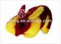 Vermelho e amarelo brinquedos coelho de pelúcia brinquedo de estimação, brinquedo de pelúcia fabricantes