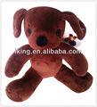 Marrom bonito cachorro de pelúcia brinquedo de estimação, cão brinquedos de pelúcia