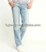 popular innovative fashion wholesale skinny men's Jeans fabric pants