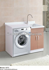 2013 new design platen washing machine bathroom cabinet