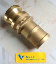 BRASS CAMLOCK COUPLING TYPE E / camlock coupler, cam groove coupling