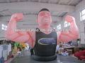 2013 caldo vendita forte muscolo gonfiabile uomo per annuncio