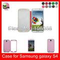 Auto despertar la función del sueño de alta calidad de cuero de la pu caja del teléfono para samsung galaxy s4i9500, de color rosa