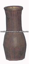 antique wooden vases