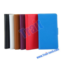 Factory Pirce! Magnetic Flip Stand Wallet Leather Case for Sony M35h Xperia SP With Card Slots