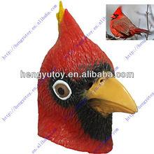 Adulto cardeal aéreo Animal máscaras de borracha de aves