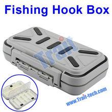Grey Portable Waterproof Fishing Lure Boxes Tackle Box