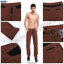 SALCAR contract color pocket men's cotton denim long trousers in China