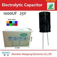 Gold capacitor, super capacitor,mini capacitor 1000uf 25v types of capacitors pictures