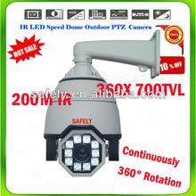 700tvl IP66 waterproof/ whether-proof 36x optical/10x digital zoom ir outdoor ptz camera high speed camera