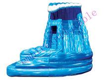water wave inflatable slide, big inflatables, PVC water slide WS003