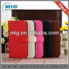Hot selling wallet leather case for samsung S4, for samsung Galaxy grand case