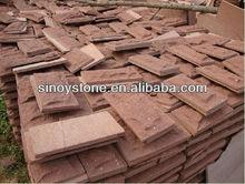 natural red sandstone mushroom Slab/pave stone/Wall stone