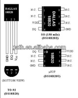 DS18B20U Dallas 1-Wire Digital Thermometer electronics spares in china