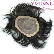 100% remy human hair toupee