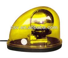 Visor rotating led warning light