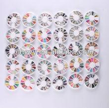 Nail Art Sticker Decoration Polymer 3D Slice DIY Tool Manicure Glint Gift Wheels