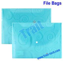 10pcs/pack PP File Folder Bag Document Bag Envelope