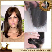 High Quality Free Tangle 4*4inch Brazilian Hair Lace Closures Fast Shipping