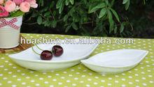 Ceramic white porcelain salad plate