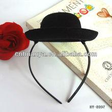 party time!! western bow headbands headband & hairband black hat headband with leopard bow