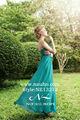 Cap de manga larga vestido de noche verde esmeralda y la longitud del piso de dos costuras de color diseño fluye gasa vestido de noche maxi