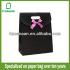 black design embossed christmas gift paper bags