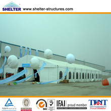 Shanghai heat insulation10x5,10x15,10x20m tents for temporary outdoor party/wedding /celebration