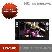 9'' 1080P mkv tv Portable Multimedia player support 1080P mov favourite video format RM/RMVB HD1080P