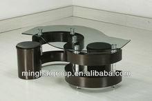S Shape Glass Coffee Table MCT-2021A-3