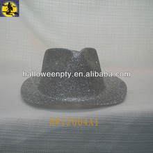 Fashion Silver PVC Glitter Cowboy Hats