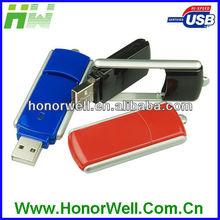 Hard Plastic 360 Rotate Slip Thumb Drive Usb Disk Pen