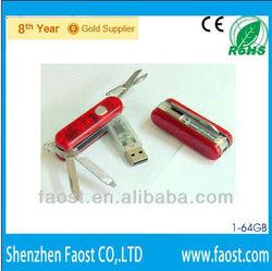 Multi-function knife usb drive 8gb, pocket gift pen drive, Swiss Army Knife usb