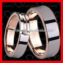 Rose gold tungsten ring for wedding