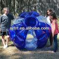 Azulinflable al aire libre de gran rebote jumbo rodante giga-- bola