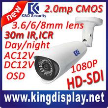 new 1080p full hd sdi ir camera 2megapixel cctv waterproof camera