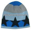 акриловые смешно ребенка добби зимой шапочка и трикотажные жаккарда hat со звездой