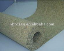 Color ful Cork rolls for floor underlayment,wall covering & memo board