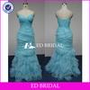 swd002 2013 new style sweetheart neckline organza mermaid real sample evening dress