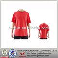 2013 popular simples cor vermelha no pescoço o mens camisa de futebol com o serviço do oem