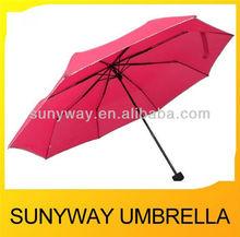 Pretty Pink Pocket Mini 3 Folding Umbrella