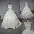 Novo estilo de um- linha rendas corpete sem mangas trem tribunal laço de cetim vestido da mãe da noiva