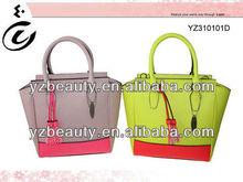 Bright color summer designed elegance feminine tote bag luxury lady shoulder bags