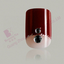 Brand names of red wine colored 3D nail tips