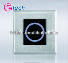 Access control system with no touch exit button