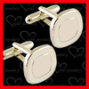 round cufflinks bullet back in silver color