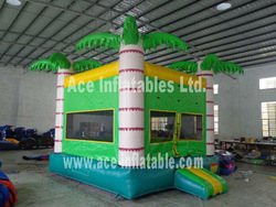 Inflatable Bouncer in Palm Tree theme